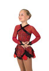 Figure Skating Dress Jerry's Crimson Cavalcade