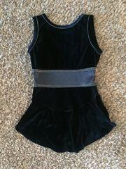 Used Figure Skating Dress GK Elite Navy Blue Velvet Adult Medium