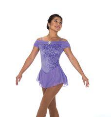 Figure Skating Dress Jerry's Shirred Shoulders