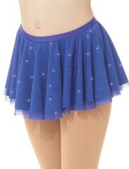 Mondor Royal Blue Glitter Mesh Pull On Skirt