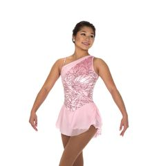 Jerry's Pearly Pink Figure Skating Dress Adult Large