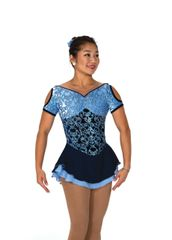 Jerry's Brocade in Blue Figure Skating Dress