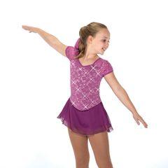 Figure Skating Dress Jerry's Violet Eyelet