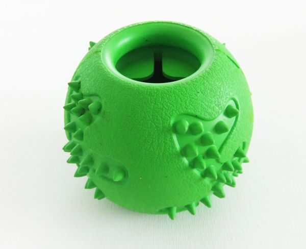 Treat Dispensing Large Rubber Green Ball