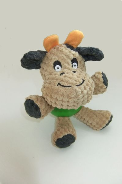 Plush Cute Cow with Rubber Ball Body