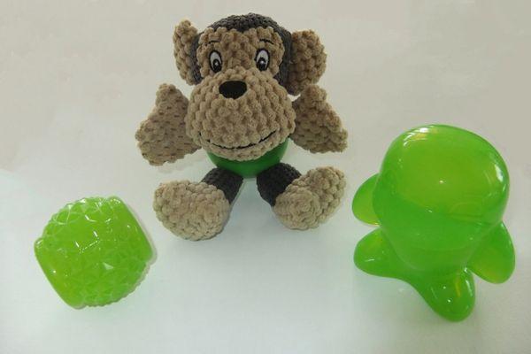 Value Pack - Monkey, squeaker penguin and pineapple ball