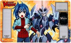 """Cardfight Vanguard Rubber Mat """"Aichi and Majesty Lord Blaster"""" by Bushiroad"""