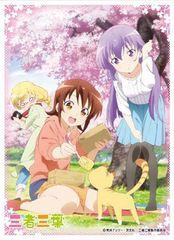 """Character Sleeve """"Three Leaves, Three Colors (Futaba, Yoko & Teru)(C)"""" EN-372 by Ensky"""