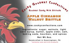 Apple Cinnamon Walnut Brittle (8 oz resealable pouch)