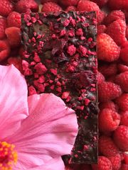 Dark Chocolate with Hibiscus and Raspberry Bar