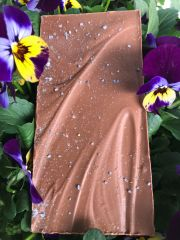 Milk Chocolate with Candied Violet Bar
