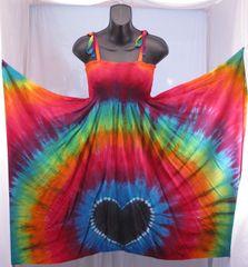 Black-Hearted Rainbow Festival Dress/Skirt