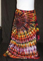 Black Fire Spiral Lotus Skirt