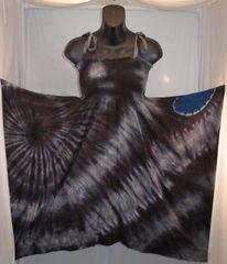 Black and Blue Heart Festival Dress/Skirt