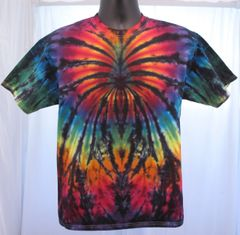 Rainbow and Black Spider Adult T-Shirt