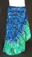 Green Edged Blue Marble Lotus Skirt