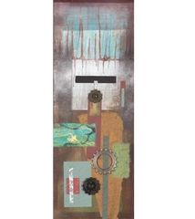 Mystic Katsina Mixed Media 9 x 24