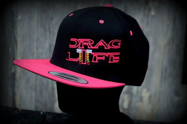 93100306d55 Drag Life Neon Pink Flat Bill