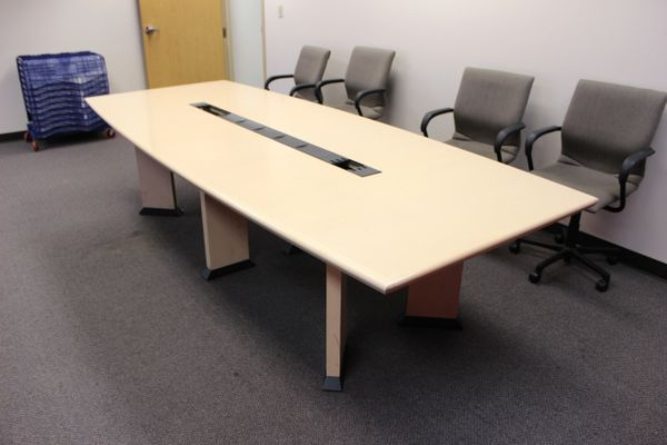 used conference table oklahoma city office furniture okc office