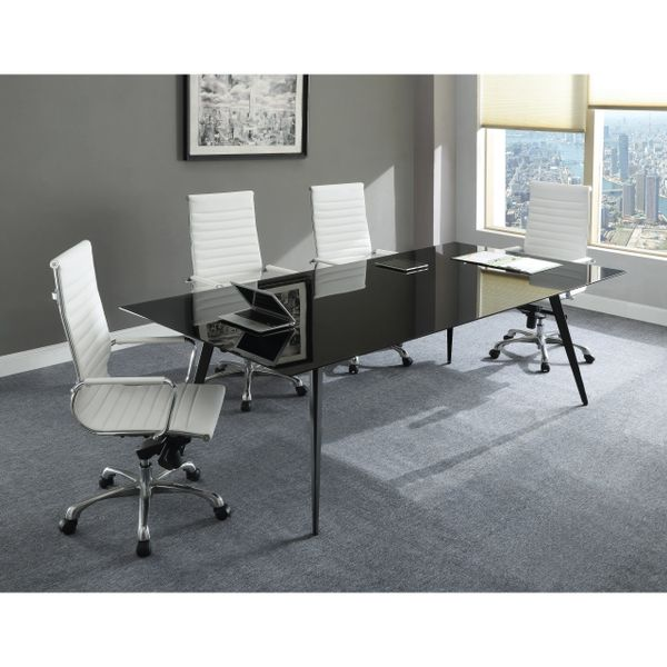 Black Glass Conference Table Oklahoma City Office Furniture Okc