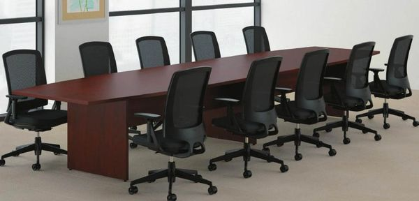 HON Boat Shaped Conference Tables Oklahoma City Office Furniture - Preside conference table