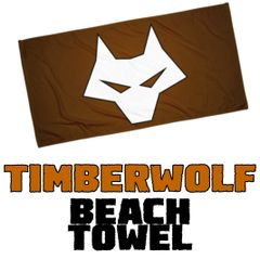 TIMBER WOLF Beach Towel