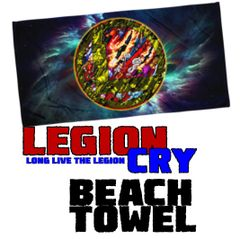 LEGION CRY LOGO Beach Towel