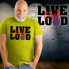 LIVE OUT LOUD Purple Hand Project shirt