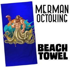 Merman: OCTOKING Beach Towel