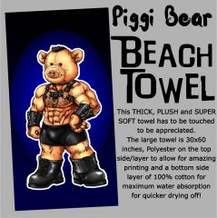 Piggi Bear Beach Towel