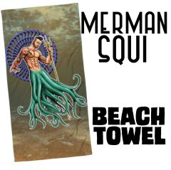 Merman: SQUI Beach Towel