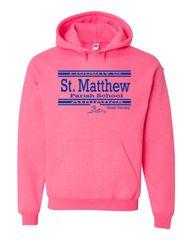 Gildan #18500 Heavy Blend (Safety Pink) Hooded Sweatshirt
