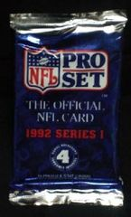 Pro Set NFL 1992 Series 1 Trading cards with 4 Holograms