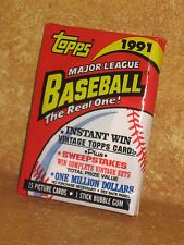 1991 Topps Major League Baseball The Real One! Picture Cards