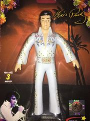 "NJ Croce - Elvis Presley- Elvis White Suit -Bendable & Poseable 6"" figure"