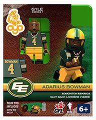 OYO CFL Series 1 Adarius Bowman Edmonton Eskimos Minifigure
