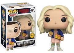 Funko Pop! Television: Stranger Things - Eleven With Eggos #421 Chase Limited Edition (Long Blonde Hair)