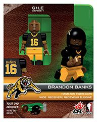 OYO CFL Series 1 Brandon Banks Hamilton Tiger-Cats Minifigure