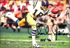 Charlie Joiner - 5x7 Autograph
