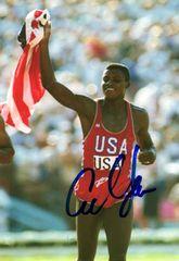 Carl Lewis - 5x7 Autograph