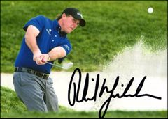 Phil Mickelson - 5x7 Autograph