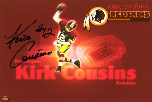 Kirk Cousins - 5x7 Autograph