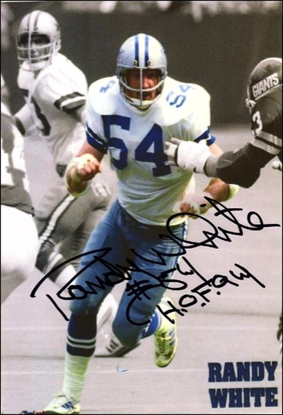 Randy White - 5x7 Autograph