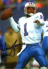 Warren Moon - 5x7 Autograph