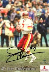 Joe Theismann 5x7 Autograph