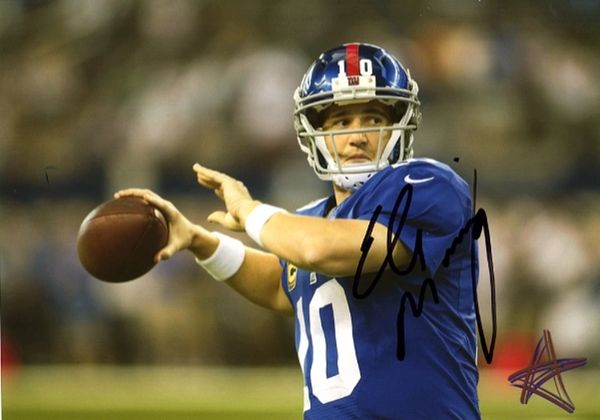 Eli Manning - 5x7 Autograph