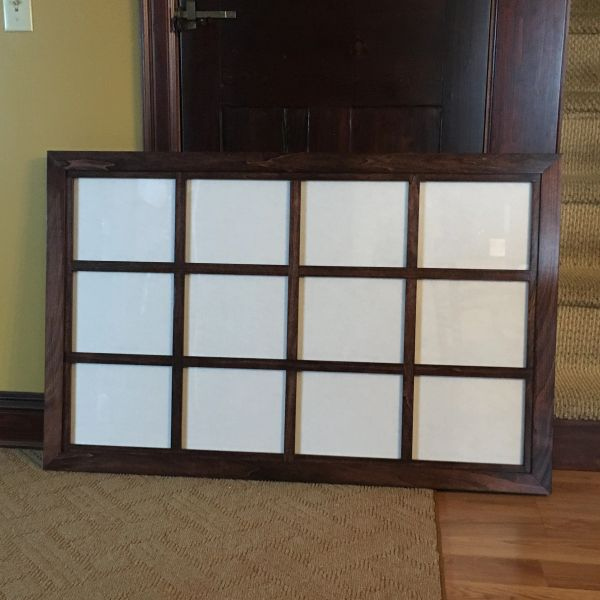 Custom Windowpane Collage Frame For 8x10 Zimwoodworking Handmade