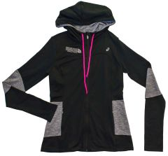 ASICS WOMEN'S THERMOPOLIS HOODY BLACK/DARK GRY