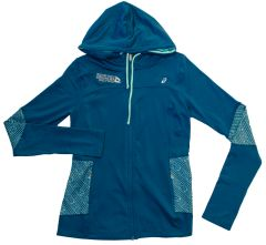 ASICS WOMEN'S THERMOPOLIS HOODY BLUE/AQUA MINT