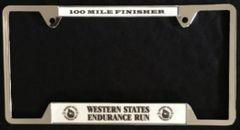 Finisher License Plate (Chrome)